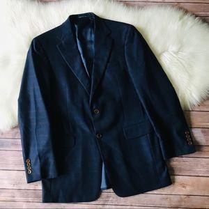 Burberry Plaid Wool Blazer Jacket Sz 38R